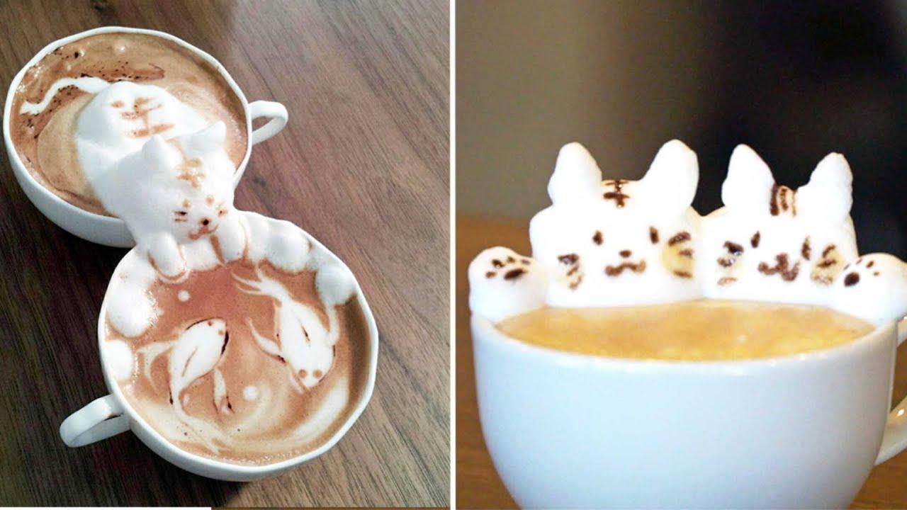 Amazing 3d Coffee Art Youtube