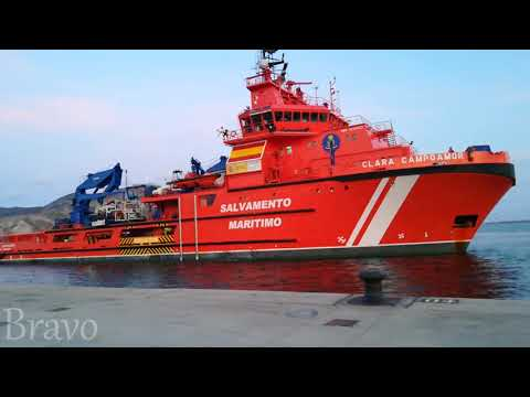 SAR (SEARCH AND RESCUE) vessel CLARA CAMPOAMOR arrives to PORT