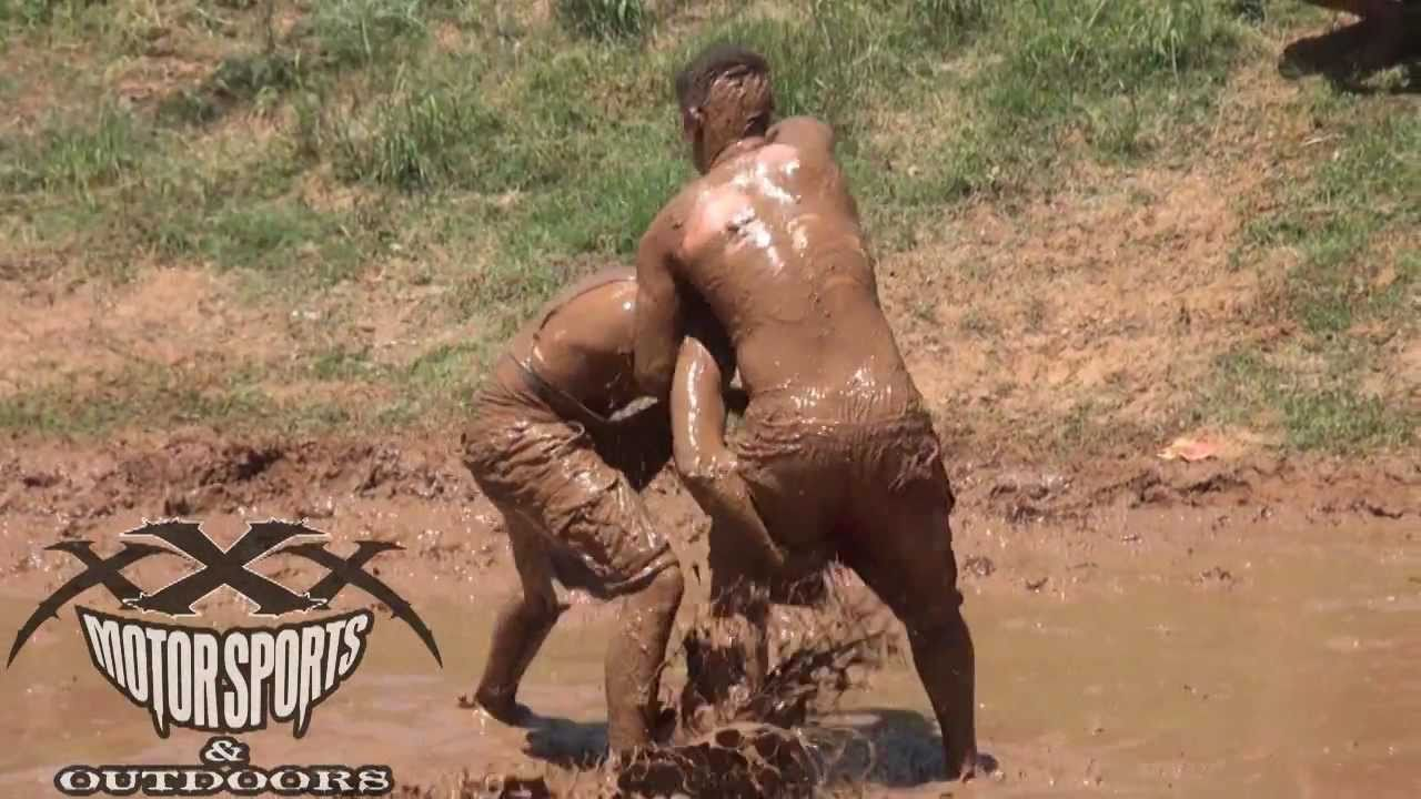 Teen girls nude mud fight
