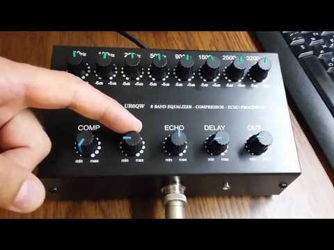 UR6QW 8 band Equalizer Compressor with Echo effect (EQ V.4)