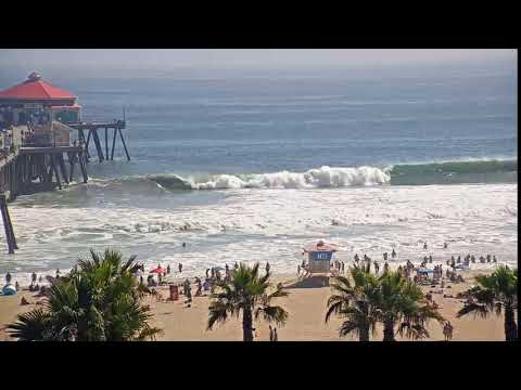 Cam Rewind: Huntington Beach Pier, July 25, 2018