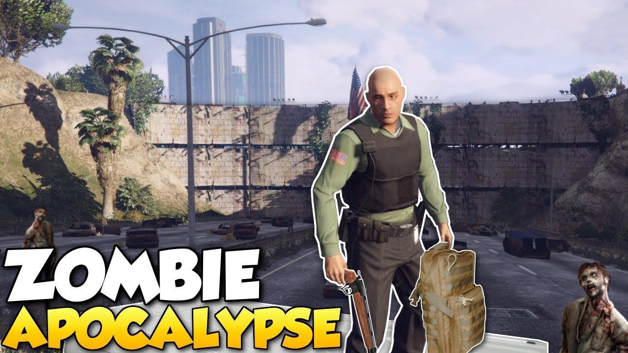 ZOMBIE APOCALYPSE?! - GTA 5 Mods Gameplay - Zombie ...