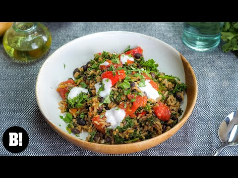 Traditional Cuban Rice, Beans & Greens Recipe! Day 28