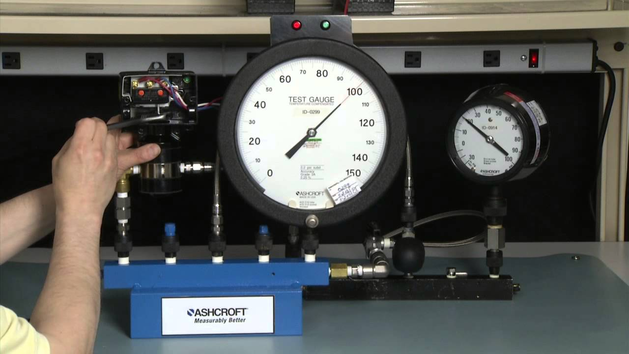 How to calibrate an ashcroft® differential pressure switch youtube