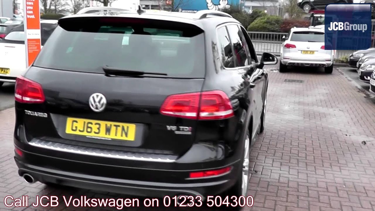 2017 Volkswagen Touareg 3 0 Tdi V6 R Line Deep Black Pearlescent Gj63wtn For At Jcb Vw Ashford