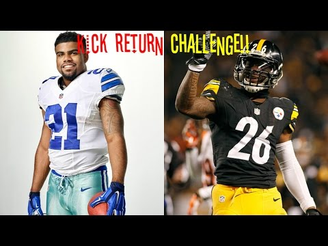 WHO CAN GET A KICK RETURN FIRST? EZEKIEL ELLIOTT VS LEVEON BELL!! INSANE ENDING!!