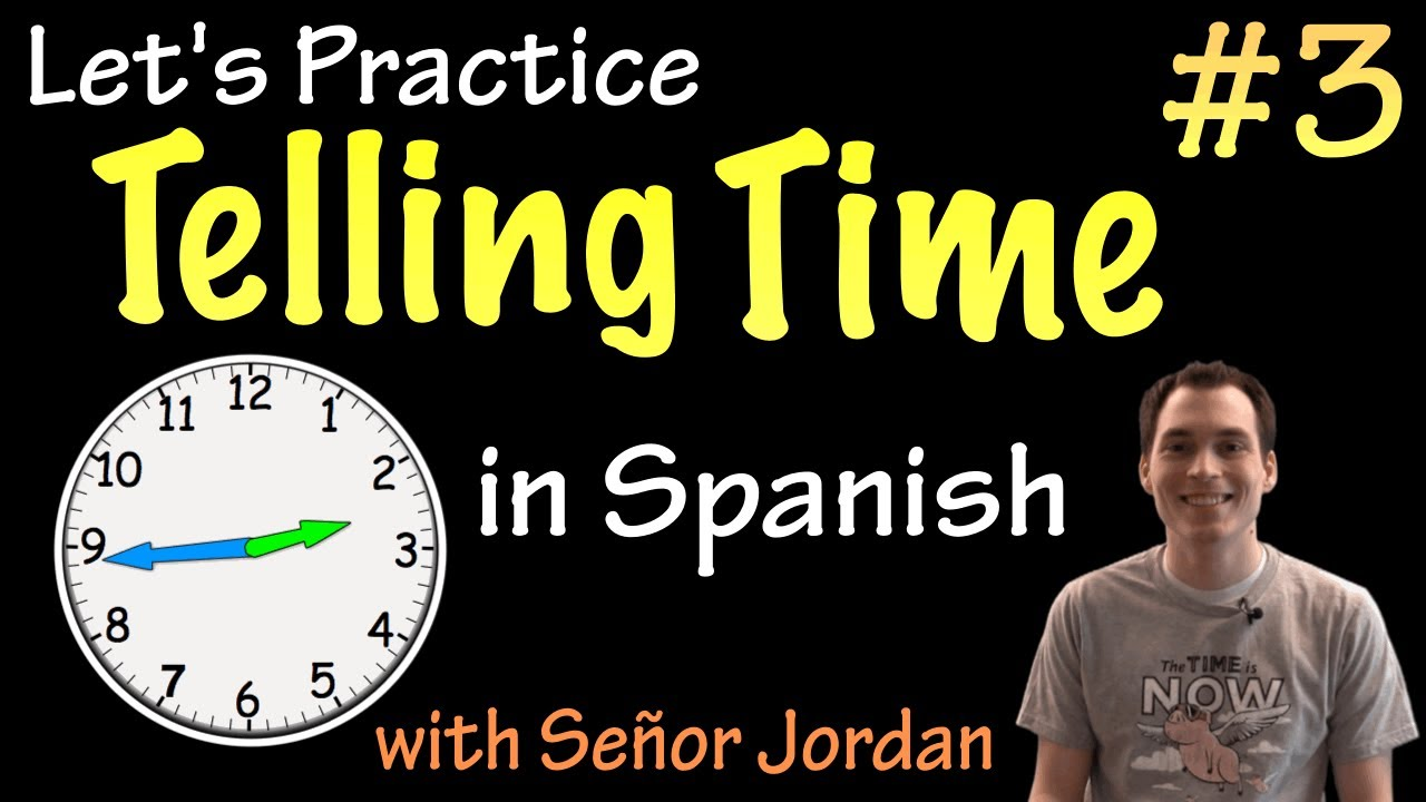 Telling time in spanish practice 3 basic youtube ibookread Read Online