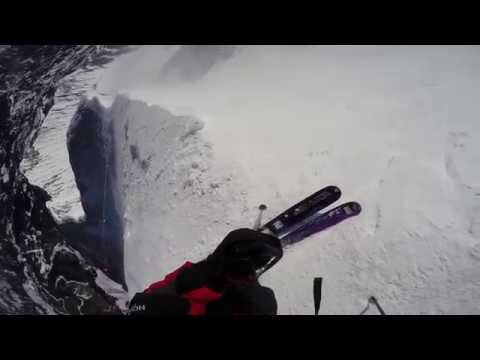Extreme Ryan (12 Years Old) on The Big Couloir and secret entrance at Big Sky, MT