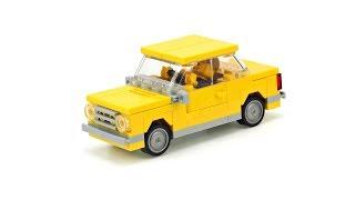 LEGO Fiat 124 / VAZ-2101 MOC Building Instructions
