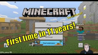 Minecraft!! Yes, for real. Not an out of seasons april fools :) First time in 11 years!
