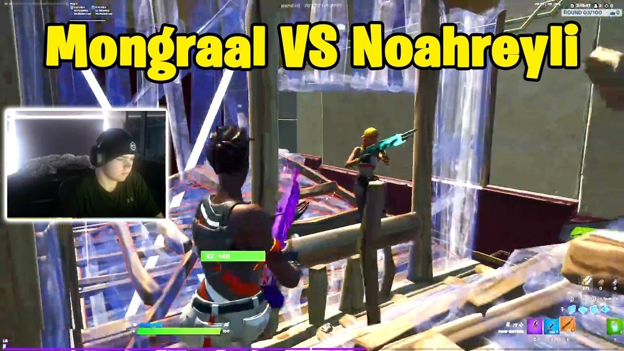 Mongraal VS Noahreyli 1v1 Boxfights!