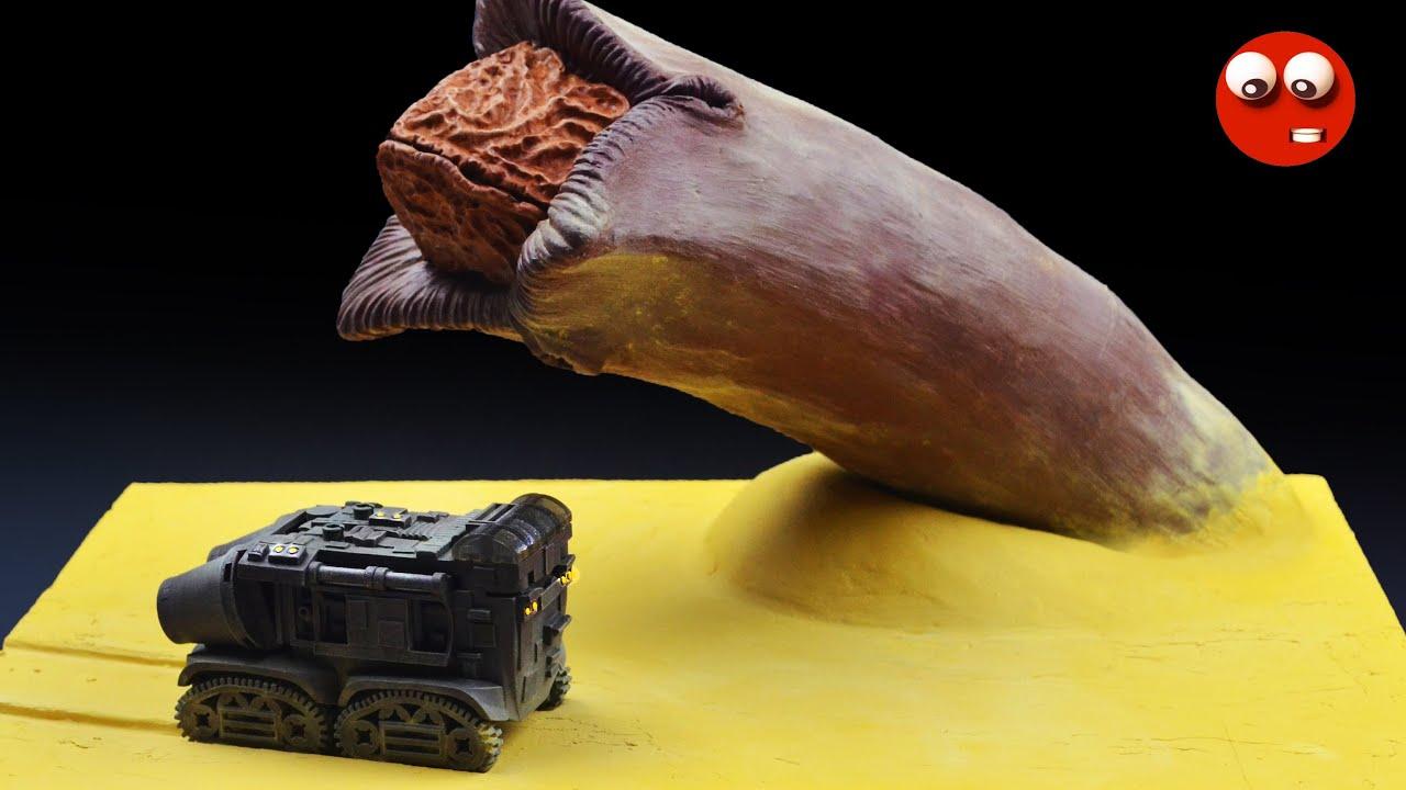 Нападение песчаного червя (Как сделать с нуля диораму вместе с комбайном)