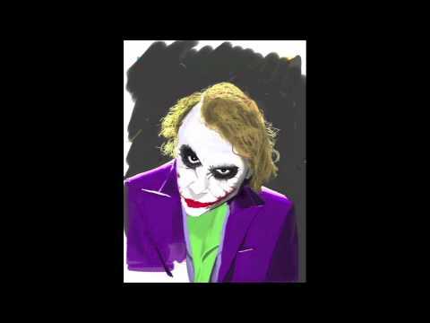 Joker Scribble Drawing : The joker thru bushes via draw something youtube