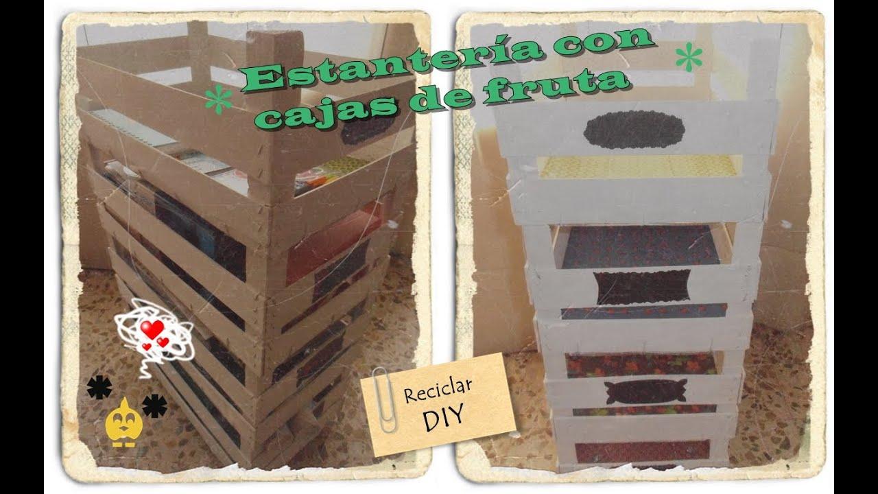 Diy estanter a hecha con cajas de fruta youtube - Estanterias con cajas de fruta ...