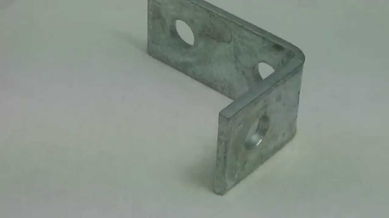Right Angle Channel : Unistrut p hole degree angle bracket for