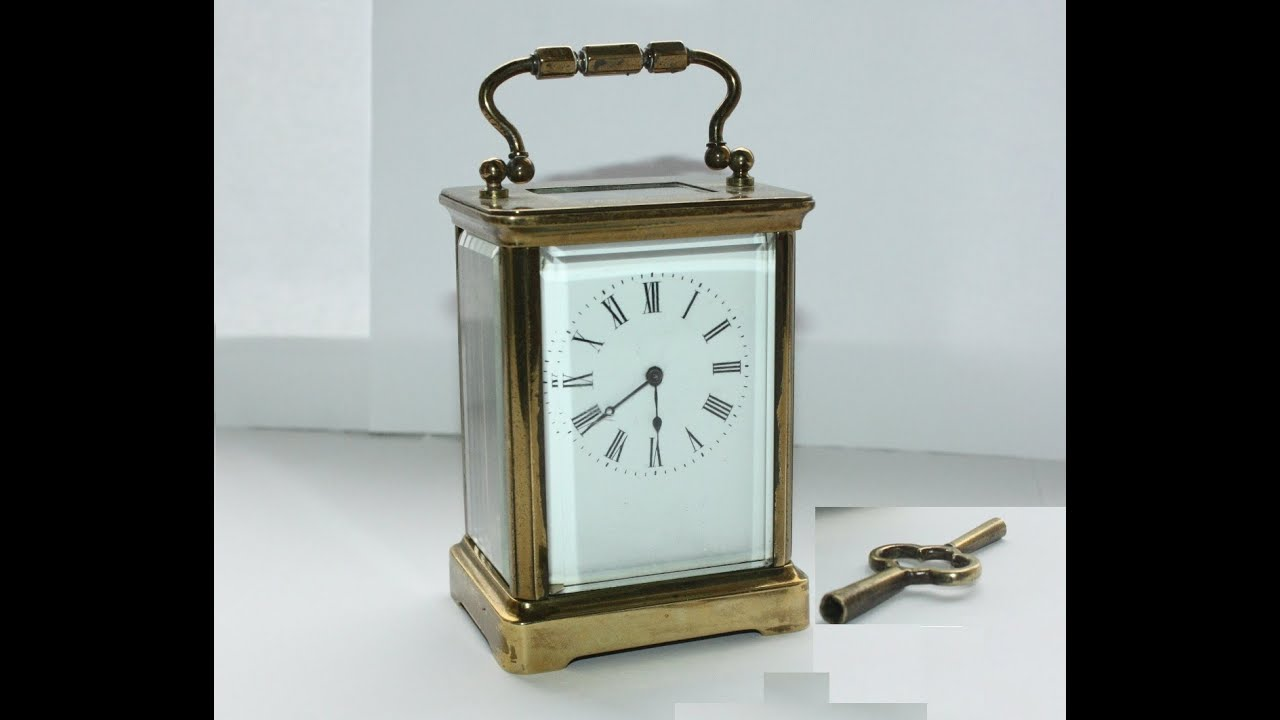 Antique Old Brass Carriage Clock [HD] - YouTube