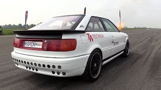 1350HP Audi S2 Turbo INSANE 0 323 KM H LAUNCH CONTROLS