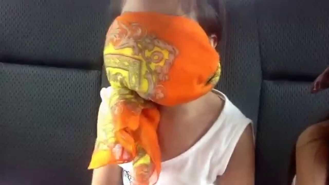 Blindfold surprise sharon