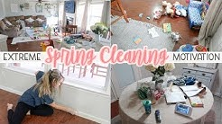 EXTREME SPRING CLEANING MOTIVATION! SPRING CLEAN WITH ME 2019- Cleaning Checklist! | Lauren Midgley