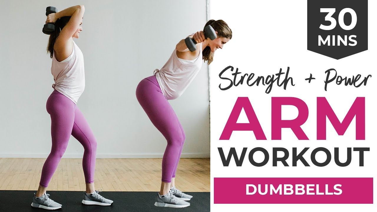 30-Minute Workout Video: Arm Workout with Dumbbells