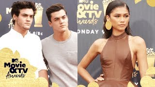 ALL the Red Carpet Looks ft. Zendaya, The Dolan Twins & More 📸 | 2018 MTV Movie + TV Awards