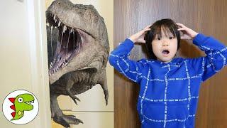 レオくんがスモールライトで恐竜をちいさくする? トイキッズ