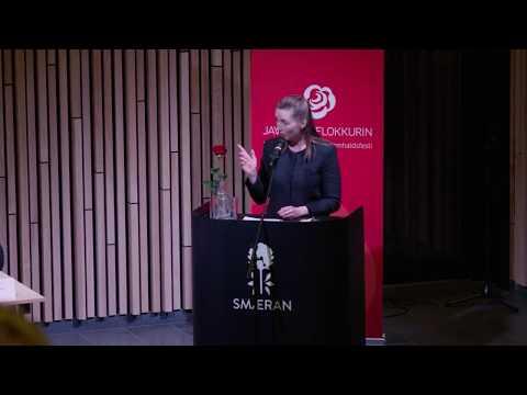 Gestarøðari Mette Frederiksen á eykalandsstevnu, Hósdagin 30. mars