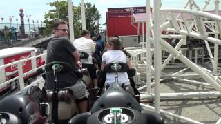 Steeplechase Roller Coaster Onride POV Luna Park Scream Zone Coney Island New York