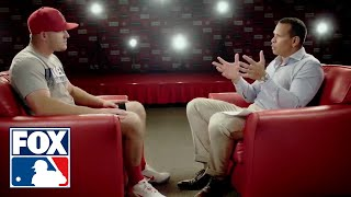 Mike Trout of the Los Angeles Angels sits down with Alex Rodriguez | FOX MLB