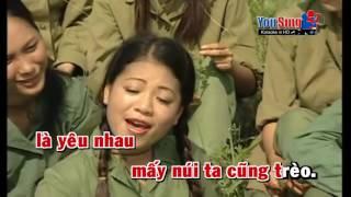 Tàu Anh Qua Núi - Karaoke ( Anh Thơ)