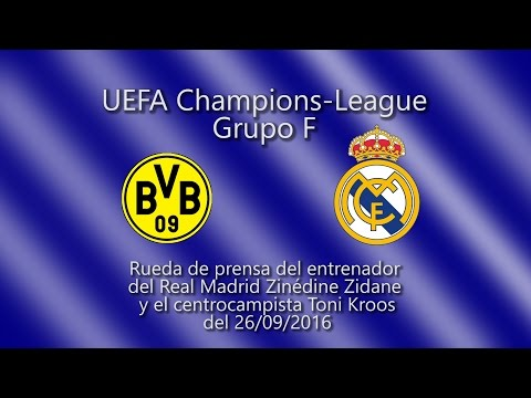 Borussia Dortmund vs Real Madrid: Conferencia de prensa con Toni Kroos y Zinedine Zidane