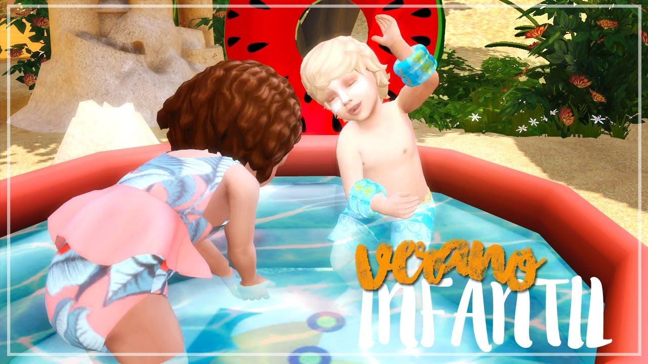 Ropa para infantes y piscina hinchable funcional pack de for Piscina sims 4