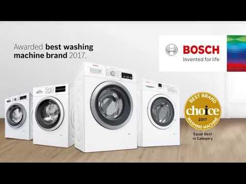 bosch washing machines best brand choice award 2017. Black Bedroom Furniture Sets. Home Design Ideas