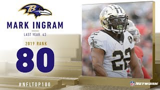 #80: Mark Ingram (RB, Ravens) | Top 100 Players of 2019 | NFL