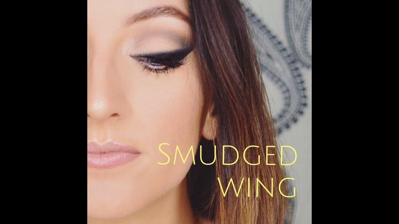 Smudged winged eyeliner tutorial youtube smudged winged eyeliner tutorial baditri Image collections