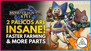 Monster Hunter Rise | 2 Palicos Are INSANE! Faster Farming, More Monster Parts, Free Buffs & More!