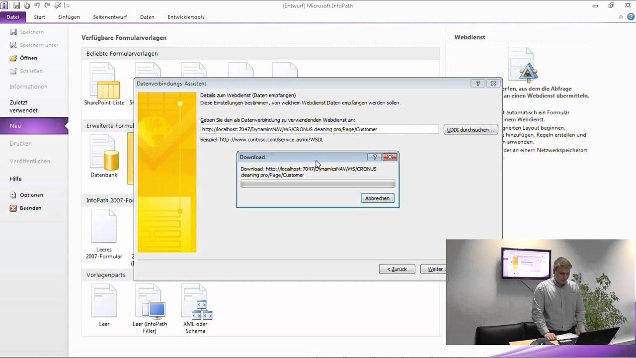 Dynamics NAV 2013 Navision WebServices - YouTube