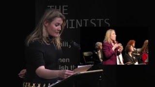 Nancy Harris, #WakingTheFeminists public meeting, Abbey Theatre