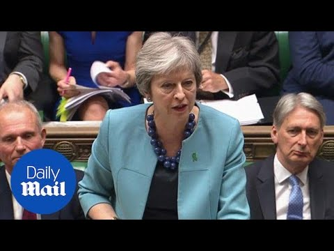 Theresa May and Jeremy Corbyn clash over Brexit at PMQs - Daily Mail