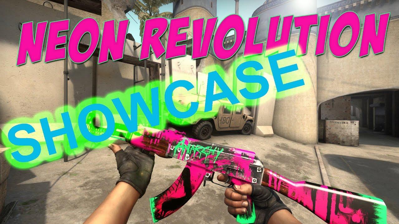 ak 47 neon revolution field tested showcase cs go gameplay