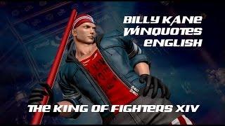 KOF XIV Billy Kane win quotes (English)