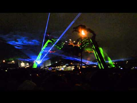 Arcadia stage at Glastonbury Festival 2013