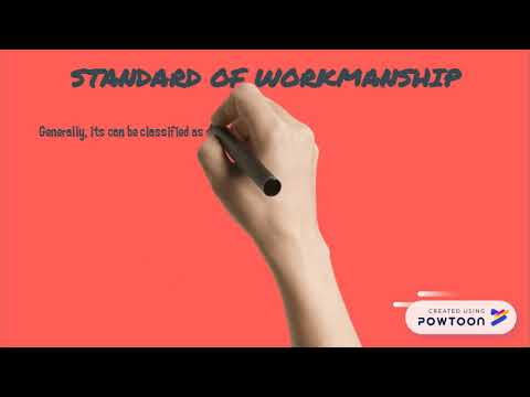 Standard of Workmanship