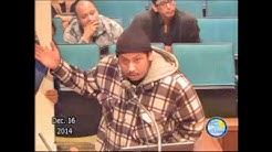 Santa Ana City Council Meeting - Public Comment - Police Officer Weston Hadley - December 16, 2014