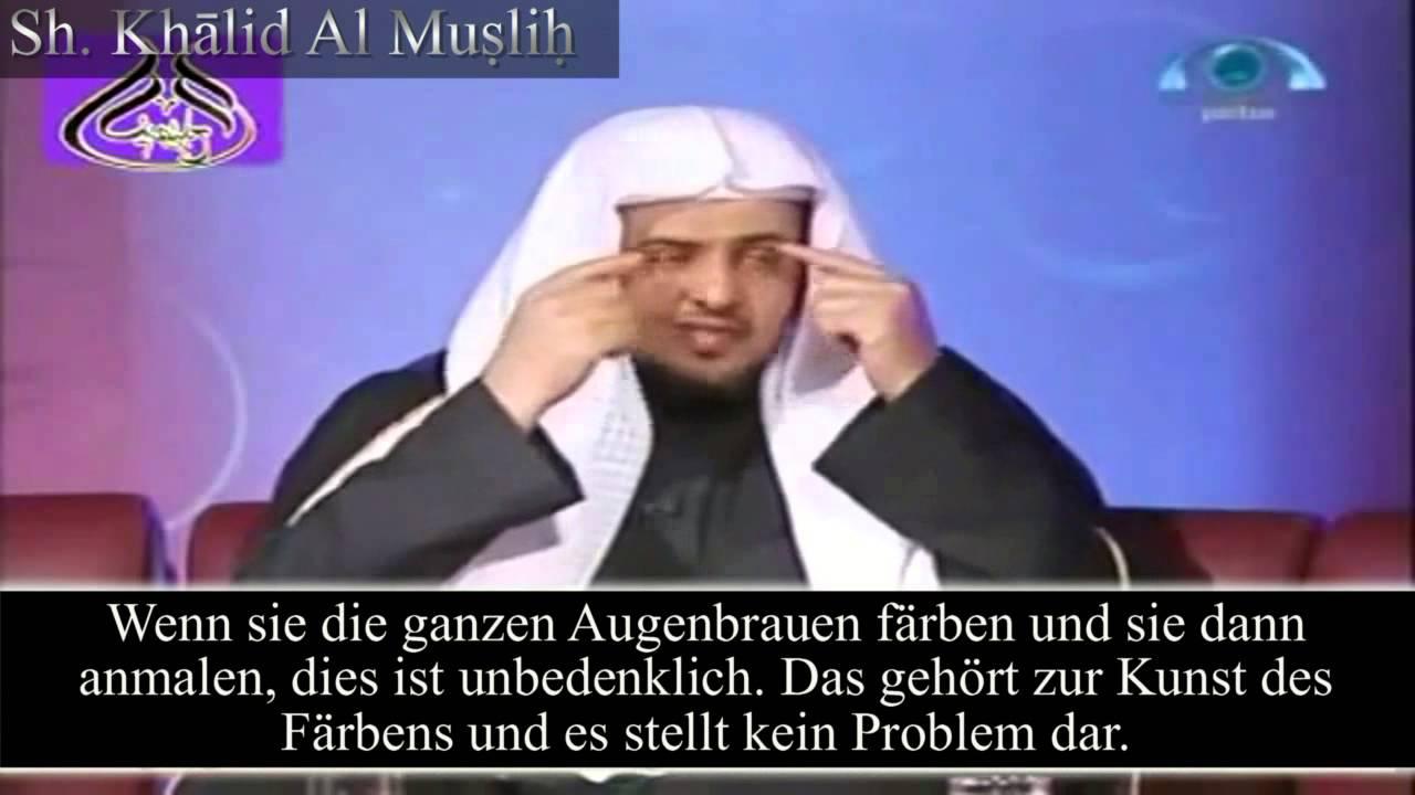 Haare zwischen den augenbrauen zupfen islam