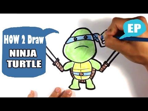 how to draw ninja turtles easy