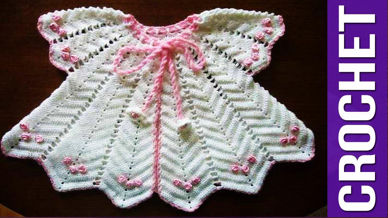 Vestidos Tejidos en crochet Bebe - Niña imagenes parte 1 - YouTube 8c4713eed164