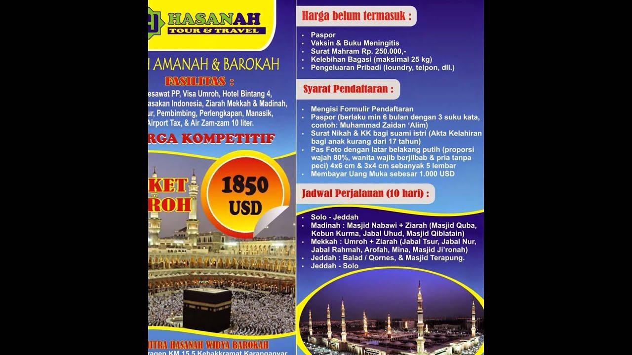 Paket Umroh Desember 2014 Solo Hasanah Travel Youtube
