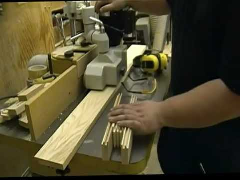 Powermatic 27 Shaper Set Up For Cabinet Door Parts Youtube