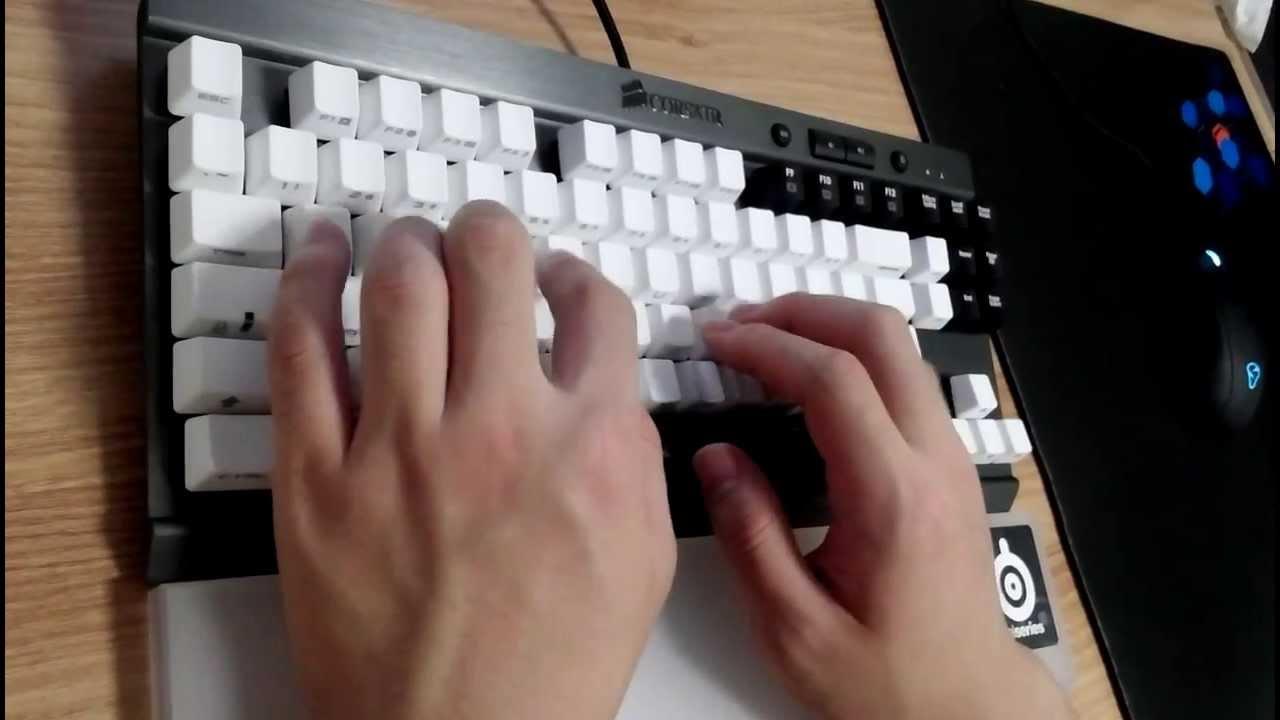 Corsair Vengeance K65 typing